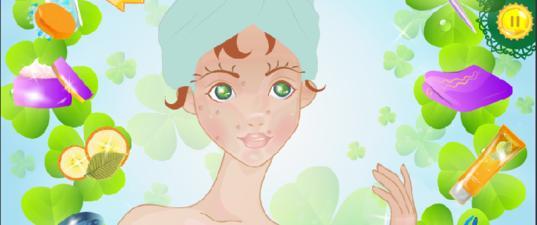 Игры День Святого Патрика макияж Одри