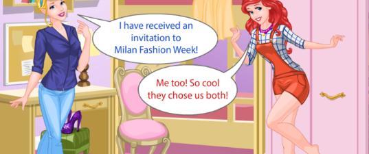 Игра Модели Принцессы На Неделе Моды В Милане