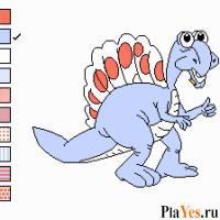 Color A Dinosaur / Раскрась динозавра