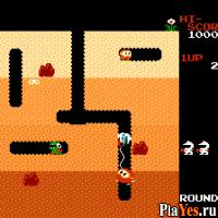 онлайн игра Dig Dug / Землекоп