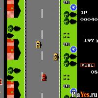онлайн игра Road Fighter / Воин дорог