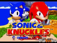 онлайн игра Sonic and Knuckles / Соник и Наклз