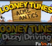 онлайн игра Looney Tunes - Dizzy Driving + Looney Tunes - Acme Antics