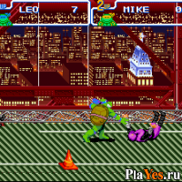 онлайн игра Teenage Mutant Ninja Turtles IV - Turtles in Time
