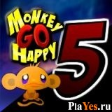 онлайн игра Monkey Go Happy 5