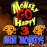 онлайн игра Monkey Go Happy Mini Monkeys 3