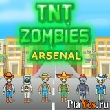 онлайн игра TNT Zombies. Arsenal