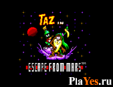 онлайн игра Taz in Escape from Mars