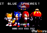 онлайн игра Sonic 1 & Knuckles - Blue Sphere