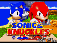 онлайн игра Sonic and Knuckles / Соник и Наклз