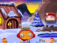 онлайн игра Monkey GO Happy North Pole