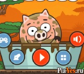 онлайн игра Piggy in the Puddle 2 / Свинка в луже 2