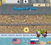 онлайн игра Puppet Ice Hockey