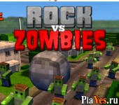 онлайн игра Rock vs Zombies