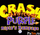 онлайн игра Crash Bandicoot Purple - Ripto's Rampage + Spyro Orange - The Cortex Conspiracy