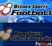 онлайн игра Disney Sports - Football + Disney Sports - Skateboarding