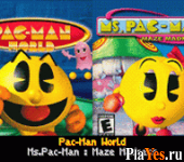 онлайн игра Pac-Man World + Ms. Pac-Man - Maze Madness