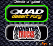 онлайн игра Quad Desert Fury + Monster Trucks