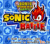 ������ ���� Sonic Pinball Party + Sonic Battle