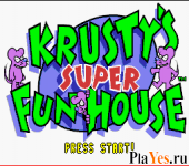 онлайн игра Krusty's Super Fun House