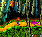 онлайн игра Crash Bandicoot Advance