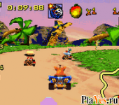 онлайн игра Crash Bandicoot Bakusou Nitro Cart