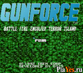 онлайн игра Gunforce - Battle Fire Engulfed Terror Island