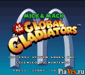 Mick - Mack as the Global Gladiators