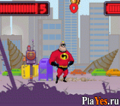 онлайн игра Mr. Incredible - Kyouteki Underminer Toujou