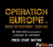 онлайн игра Operation Europe - Path to Victory 1939 45