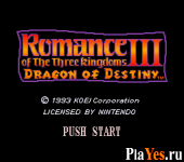 онлайн игра Romance of the Three Kingdoms III - Dragon of Destiny