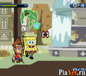 онлайн игра SpongeBob SquarePants and Friends Unite!