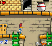 онлайн игра Woody Woodpecker in Crazy Castle 5