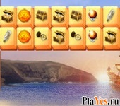 онлайн игра Carribean Pirates Mahjong