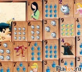 онлайн игра Disney Princess Mahjong