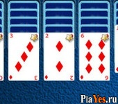 онлайн игра Spider Solitaire Game