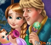 онлайн игра Anna and Kristoff Baby Feeding