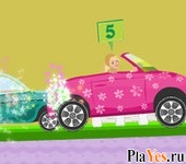 онлайн игра Barbie Car Racing