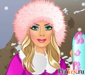 онлайн игра Barbie Goes Skiing