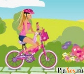 онлайн игра Barbie & Me: Bike Game