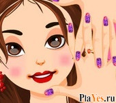 онлайн игра Barbie Trendy Nail Designs
