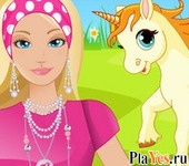 онлайн игра Caring Barbie Unicorn