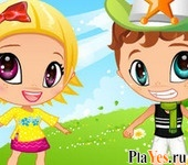 онлайн игра Cute Baby Couple
