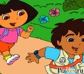 онлайн игра Dora and Diego Adventure 2