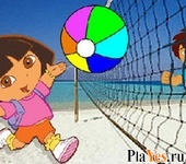 онлайн игра Dora and Diego Volleyball