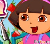онлайн игра Dora Cut Fruit