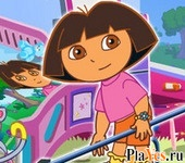 онлайн игра Dora Groom the Room