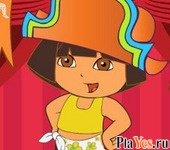 онлайн игра Dora on Stage Dress Up