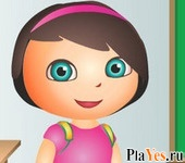 онлайн игра Dora School Dress Up