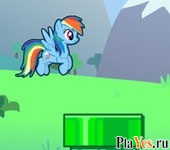 онлайн игра Flappy Rainbow Pony